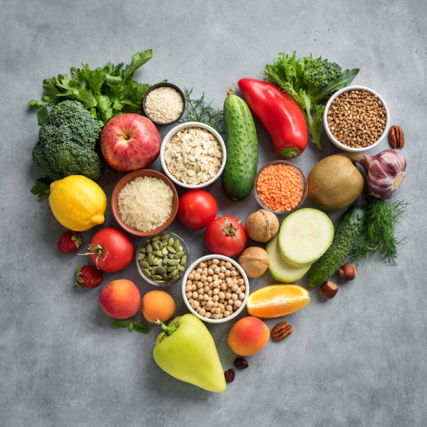 Healthy food for Heart stock photo