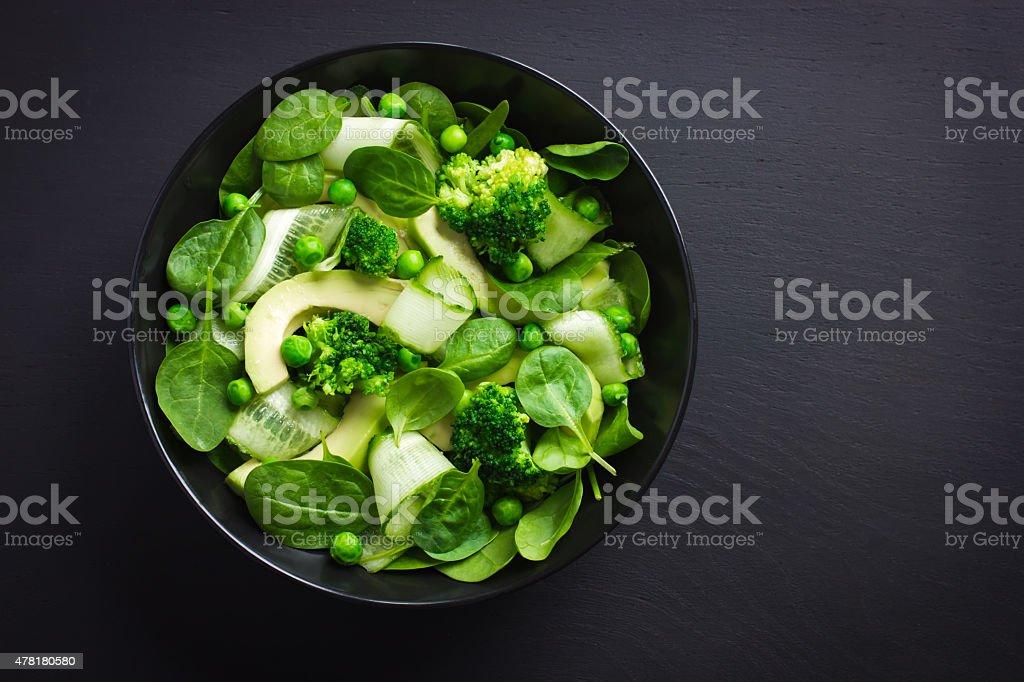 Healthy food. Fresh green salad. stock photo