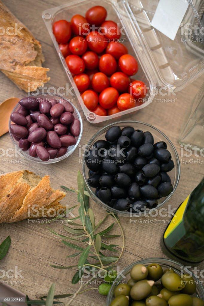 Healthy food fresh vegetable salad zbiór zdjęć royalty-free