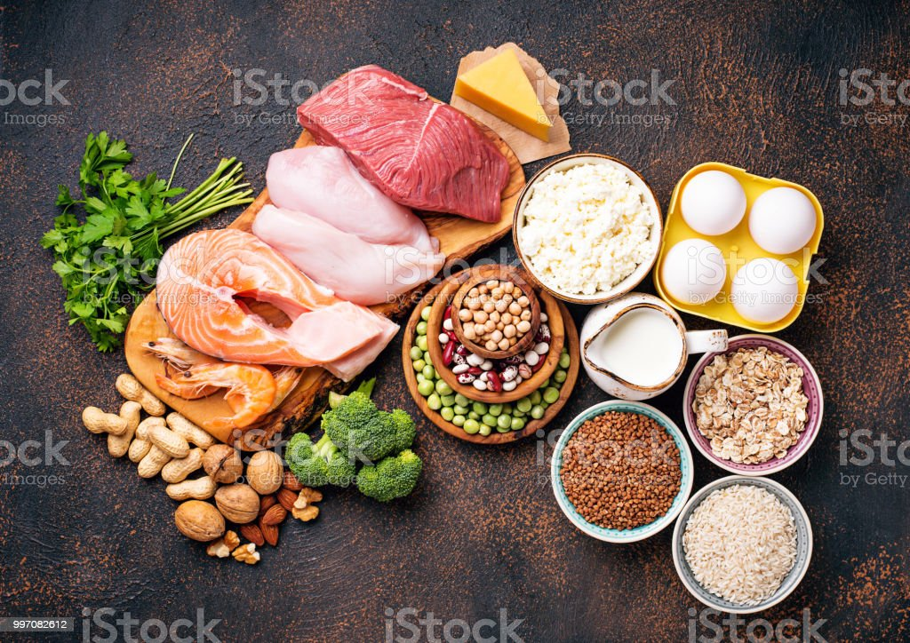 Healthy Food High In Protein Royalty Free Stock Photo