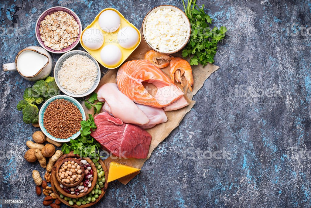 Healthy food high in protein royalty-free stock photo