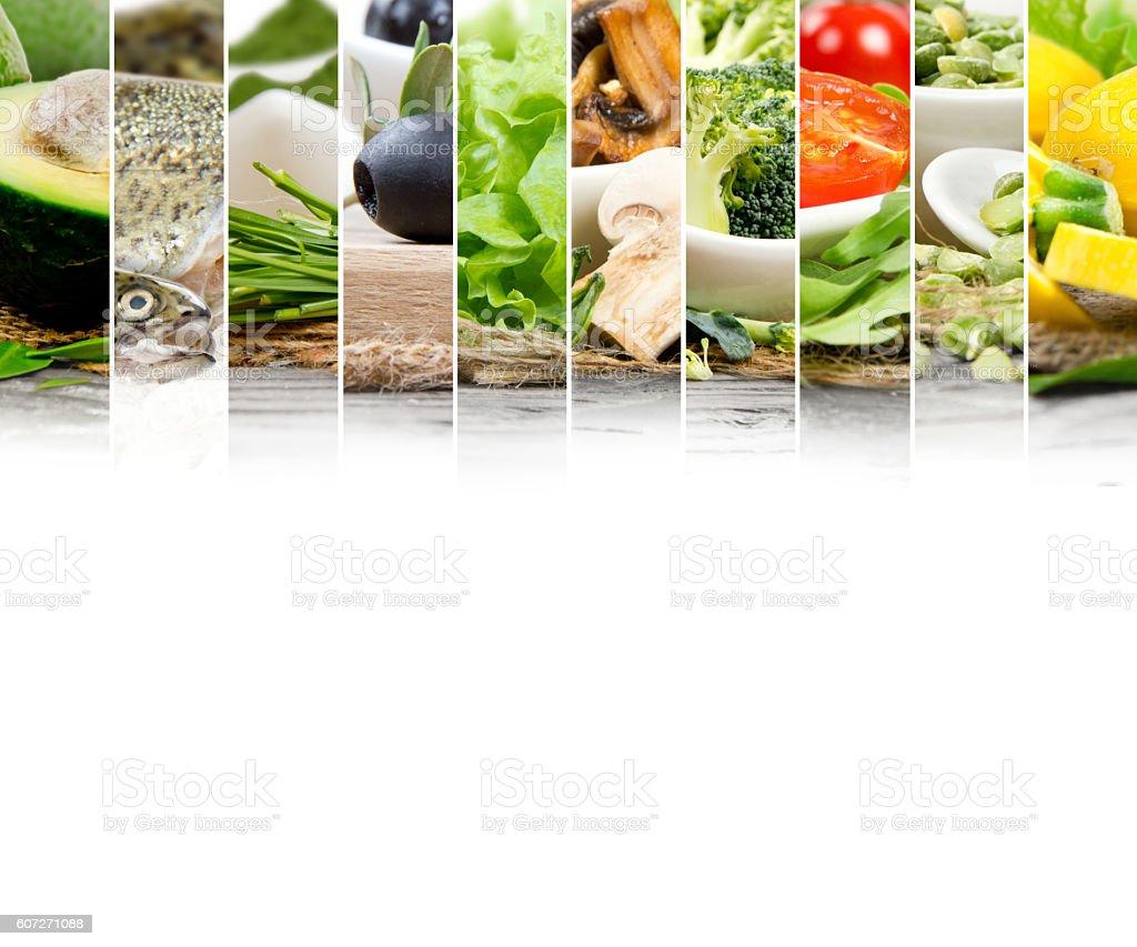 Healthy Food Mix stock photo