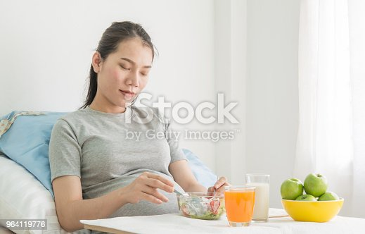istock Healthy food on table  for  pregnant women. 964119776