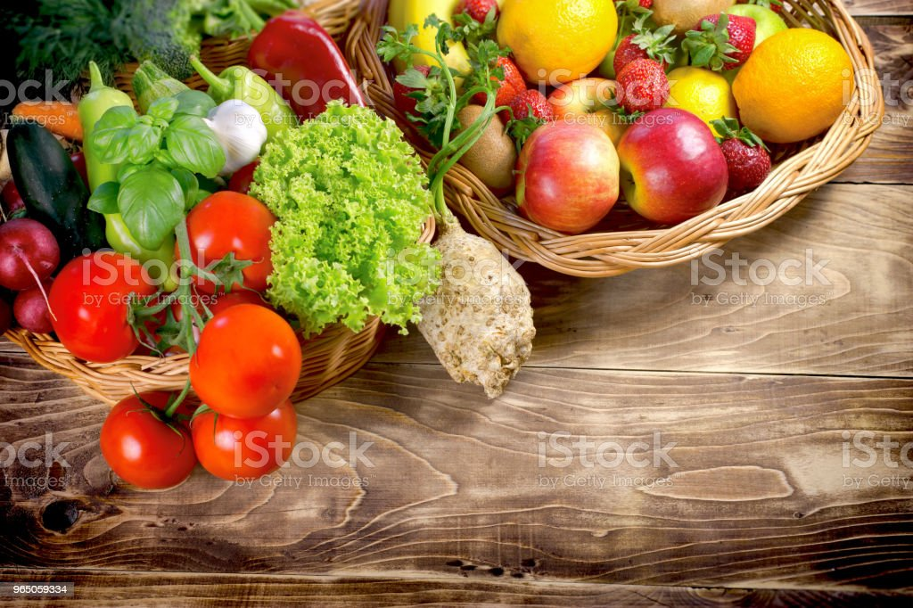 Healthy food, organic fruit and vegetable - healthy eating zbiór zdjęć royalty-free