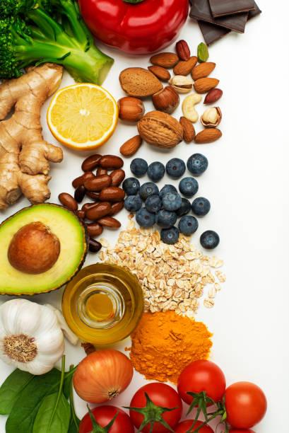 comida saludable - fibra dietética fotografías e imágenes de stock