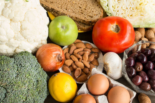 Healthy Food Recommended for Diabetes stock photo