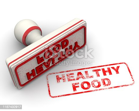 1181637623istockphoto Healthy food. Seal and imprint 1157432917
