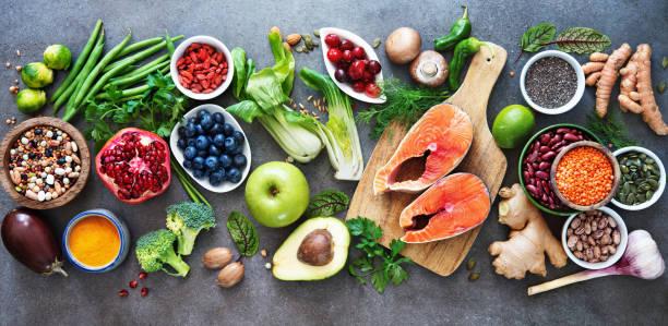 Auswahl an gesunden Speisen – Foto