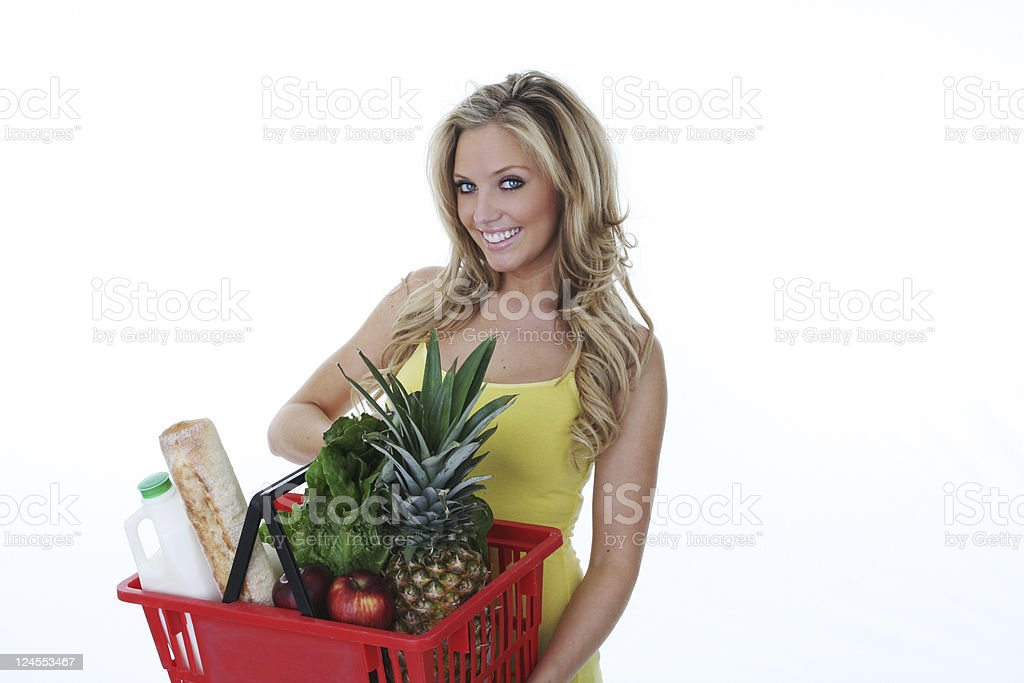 healthy food shopping royalty-free stock photo