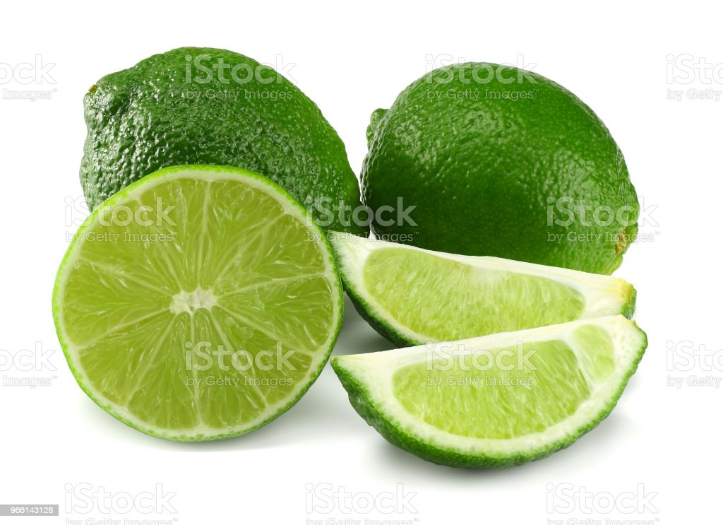 healthy food. sliced lime isolated on white background - Royalty-free Abstract Stock Photo