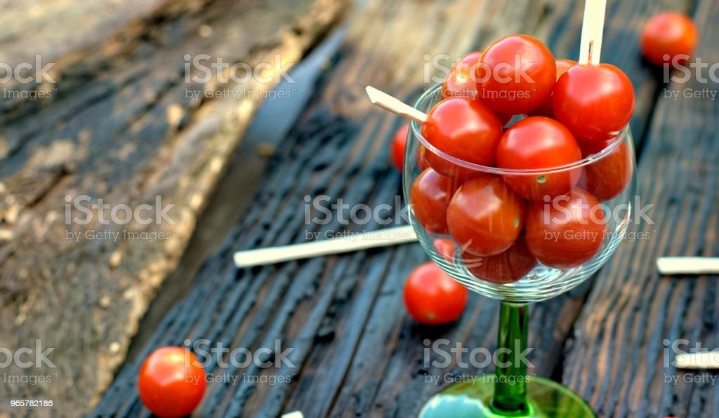 Healthy food, tomatoes and vegetable concept. - Royalty-free Backgrounds Stock Photo