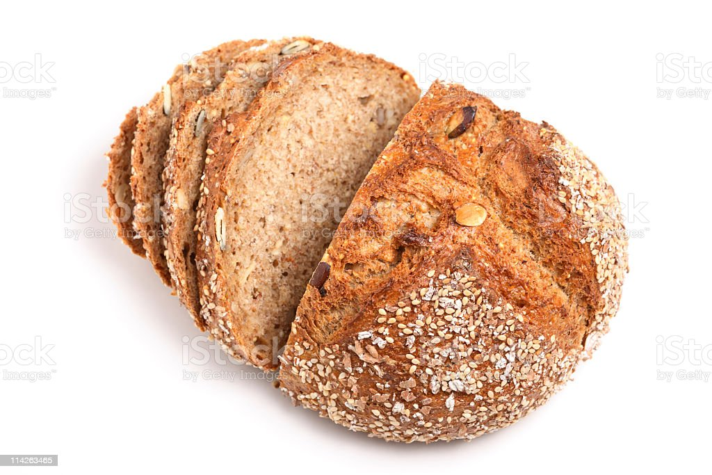 Healthy Food: Wholemeal Bread stock photo