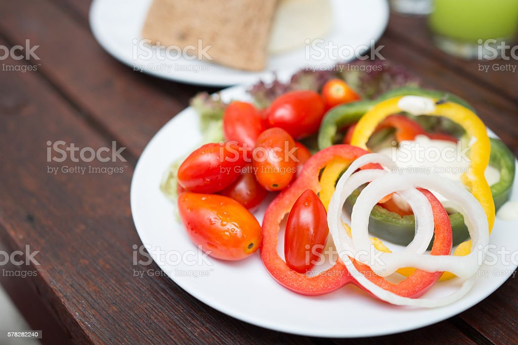 healthy foods, Sweet Peppers or Bell Peppers slice and red stock photo