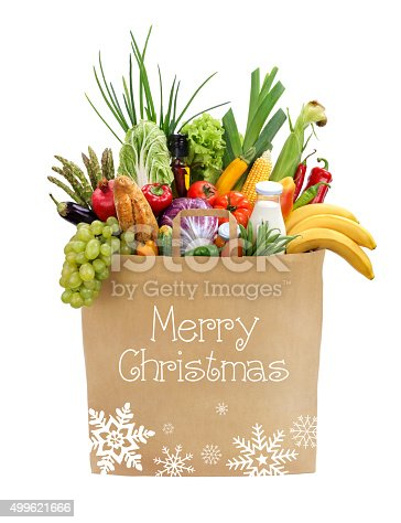 istock Healthy foods to buy, Merry Christmas! 499621666