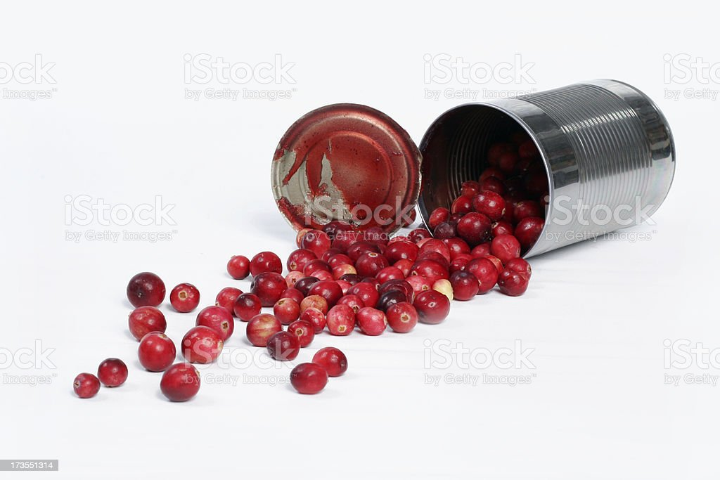 Healthy Fresh Canned Cranberries royalty-free stock photo