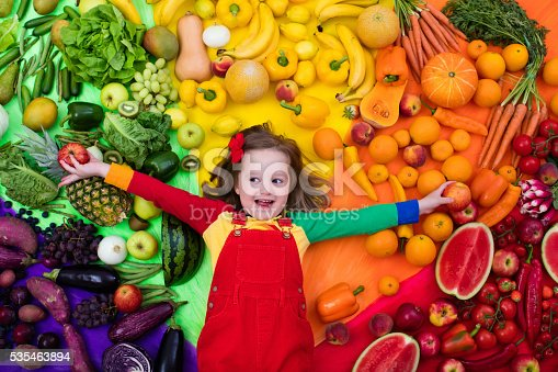 istock Healthy fruit and vegetable nutrition for kids 535463894