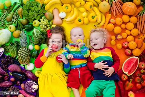 istock Healthy fruit and vegetable nutrition for kids 824723974