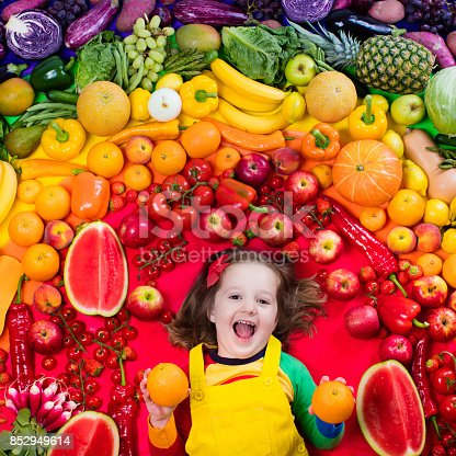istock Healthy fruit and vegetable nutrition for kids 852949614