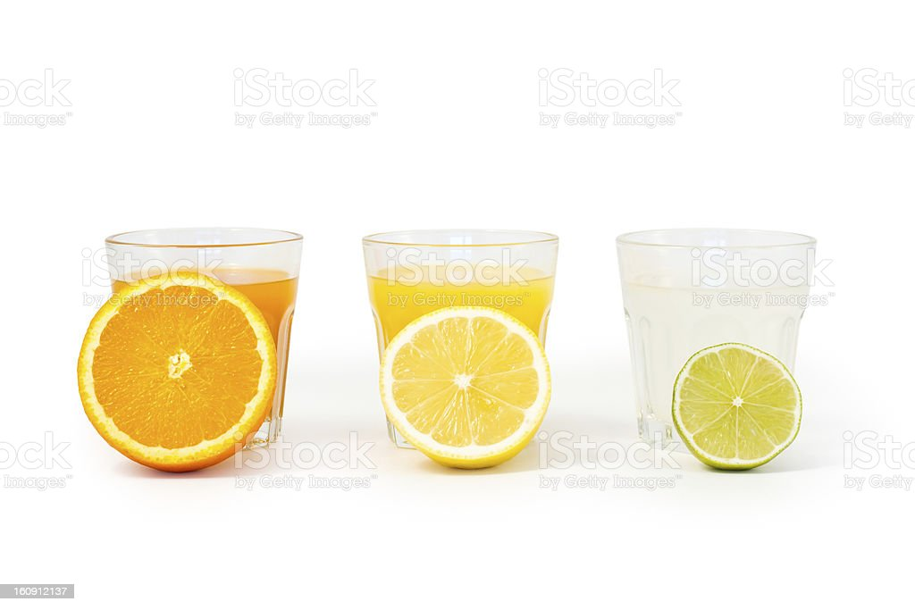 Healthy fruit drinks stock photo