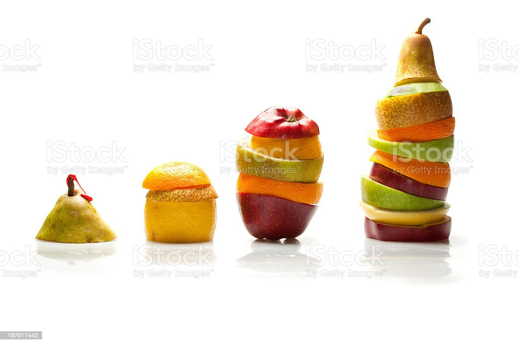 Healthy fruit growing graph stock photo