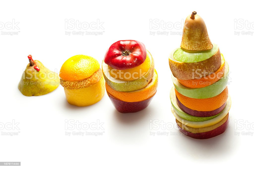 Healthy fruit growing graph royalty-free stock photo