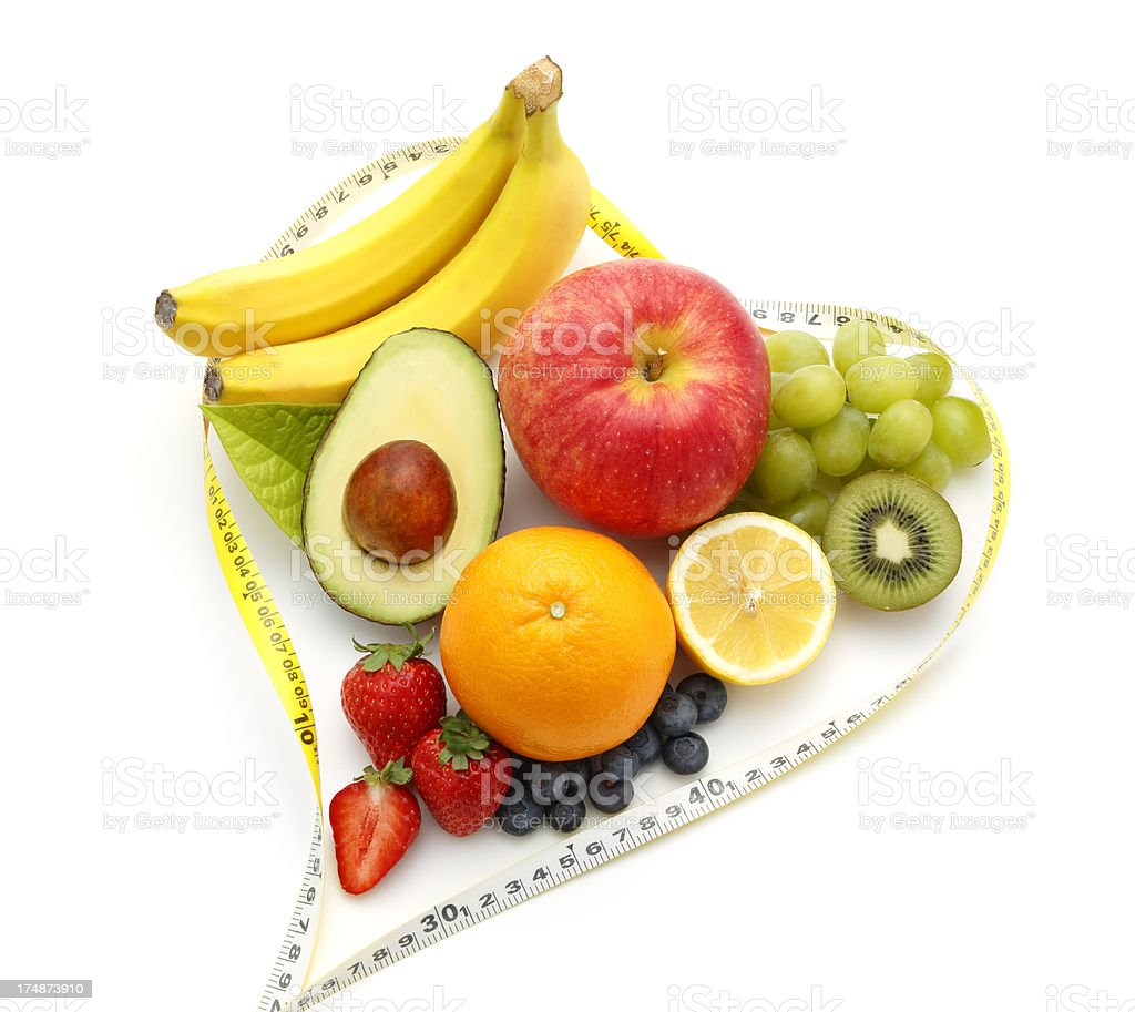 Healthy Fruit (Dieting Concept) royalty-free stock photo
