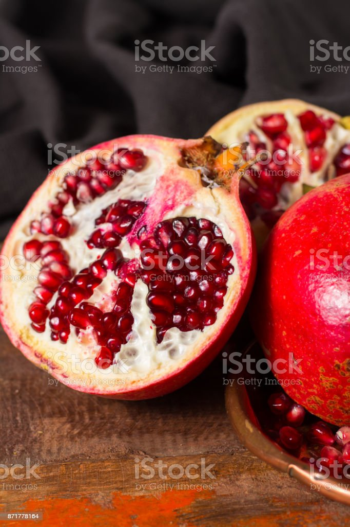 healthy fruit red ripe pomegranate rich of vitamin c also known as a