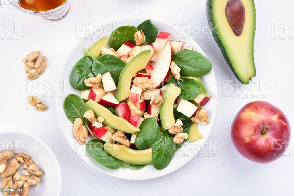 Healthy fruit salad stock photo