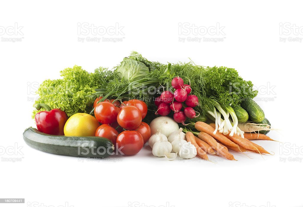 Healthy fruits and vegetables royalty-free stock photo