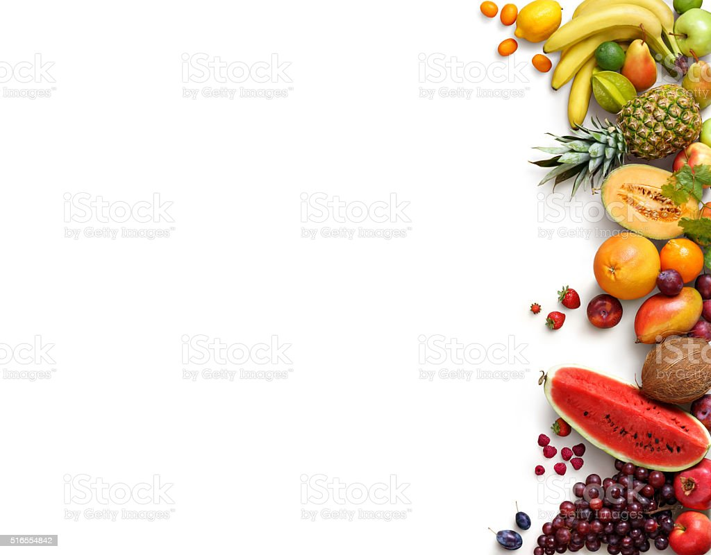 Healthy fruits background. stock photo