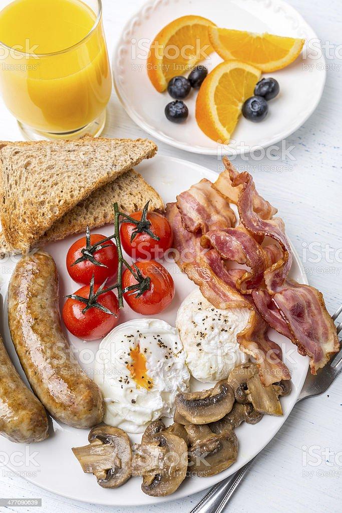 Healthy Full English Breakfast royalty-free stock photo