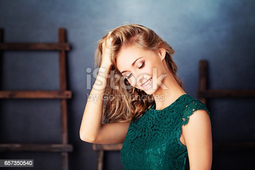 istock Healthy Girl Fashion Model Smiling 657350540
