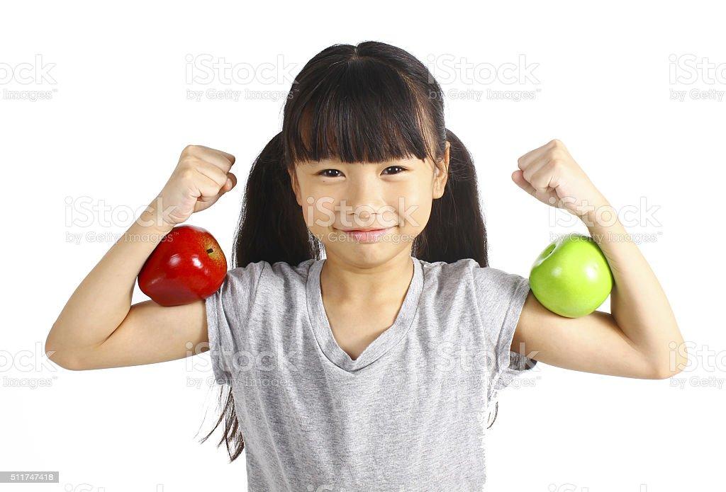 Healthy girl stock photo