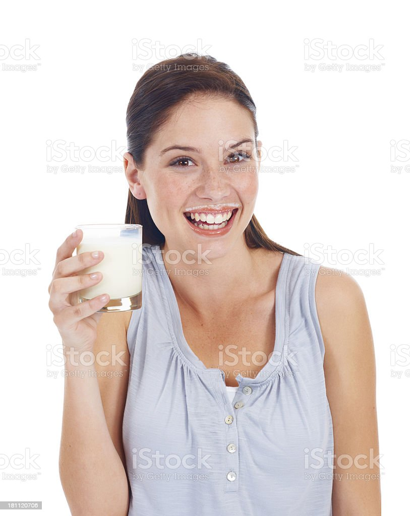 Healthy glass of milk royalty-free stock photo