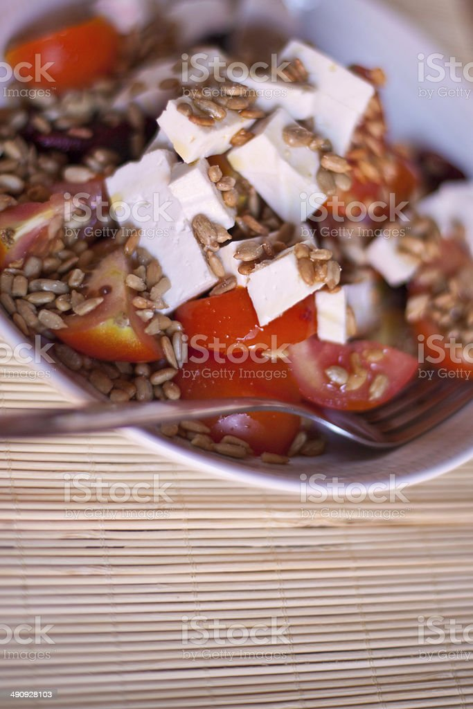 Healthy Goat Cheese Salad royalty-free stock photo