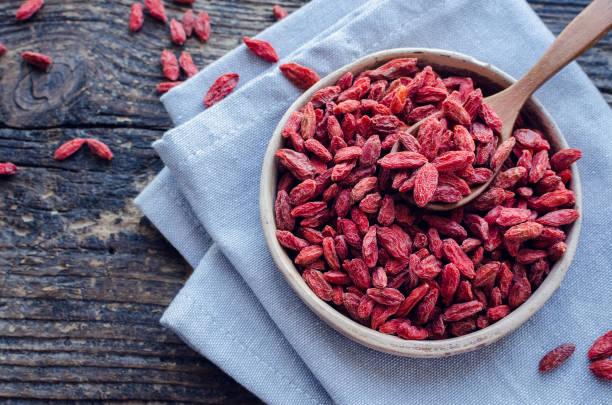 Healthy goji berries stock photo