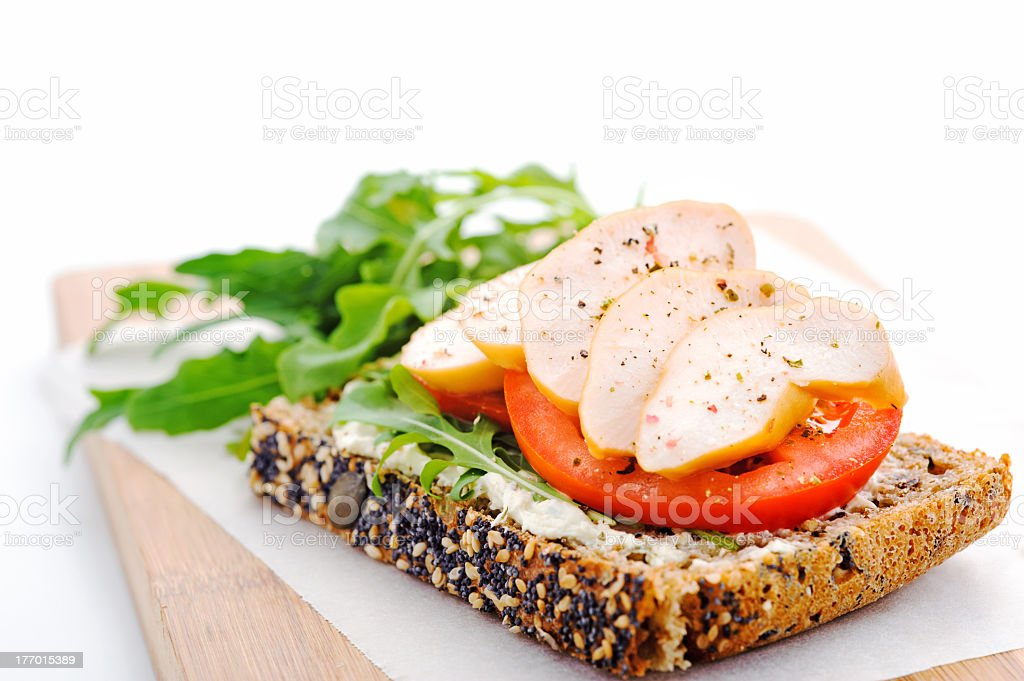 Healthy gourmet lunch stock photo