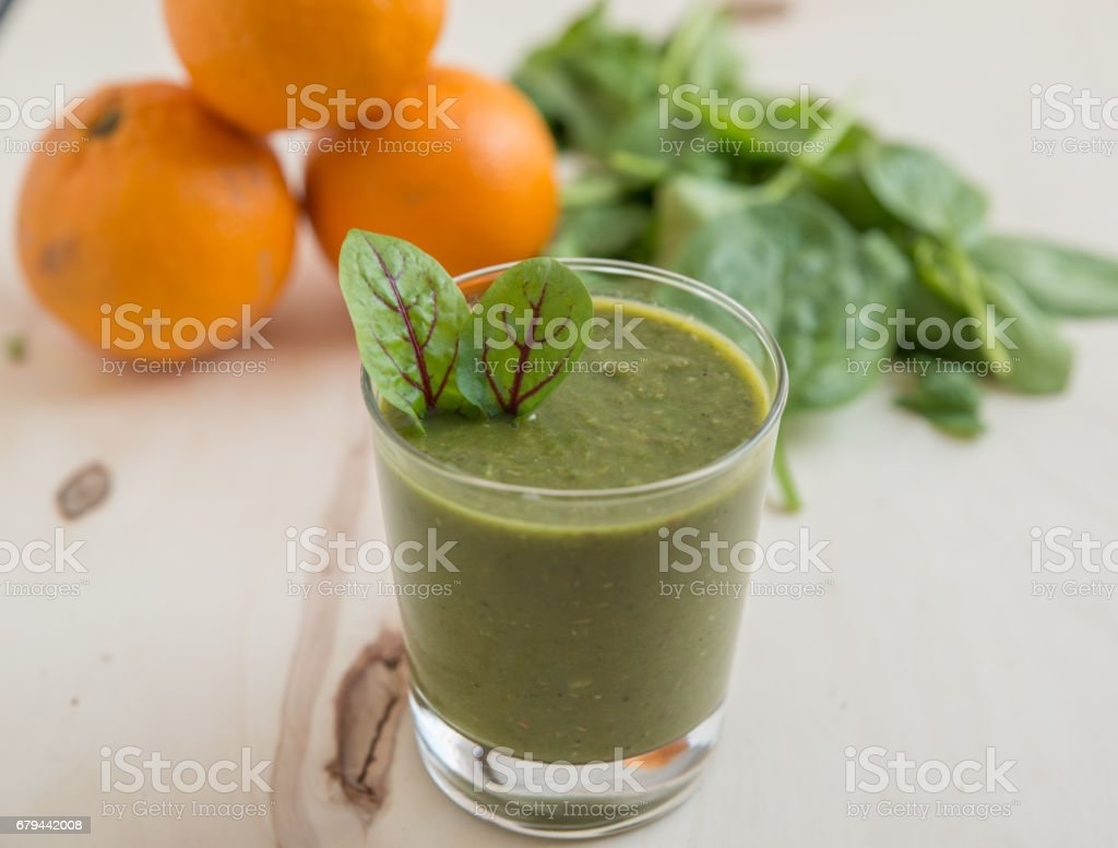 Gesunder Grüner Smoothie foto de stock royalty-free
