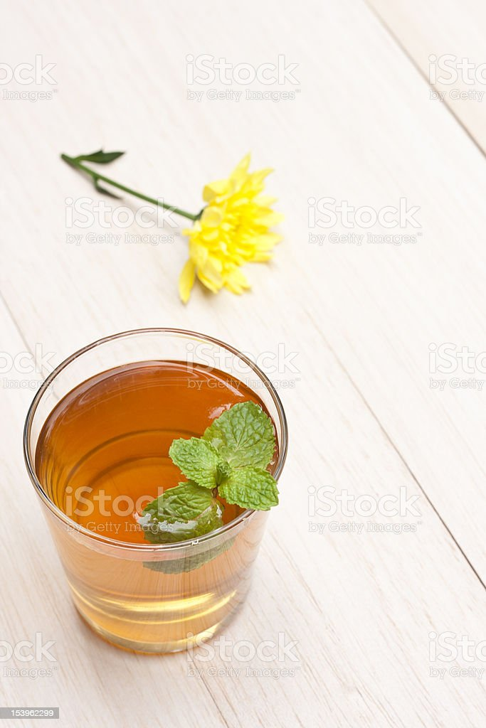 Healthy Green Tea Cup royalty-free stock photo