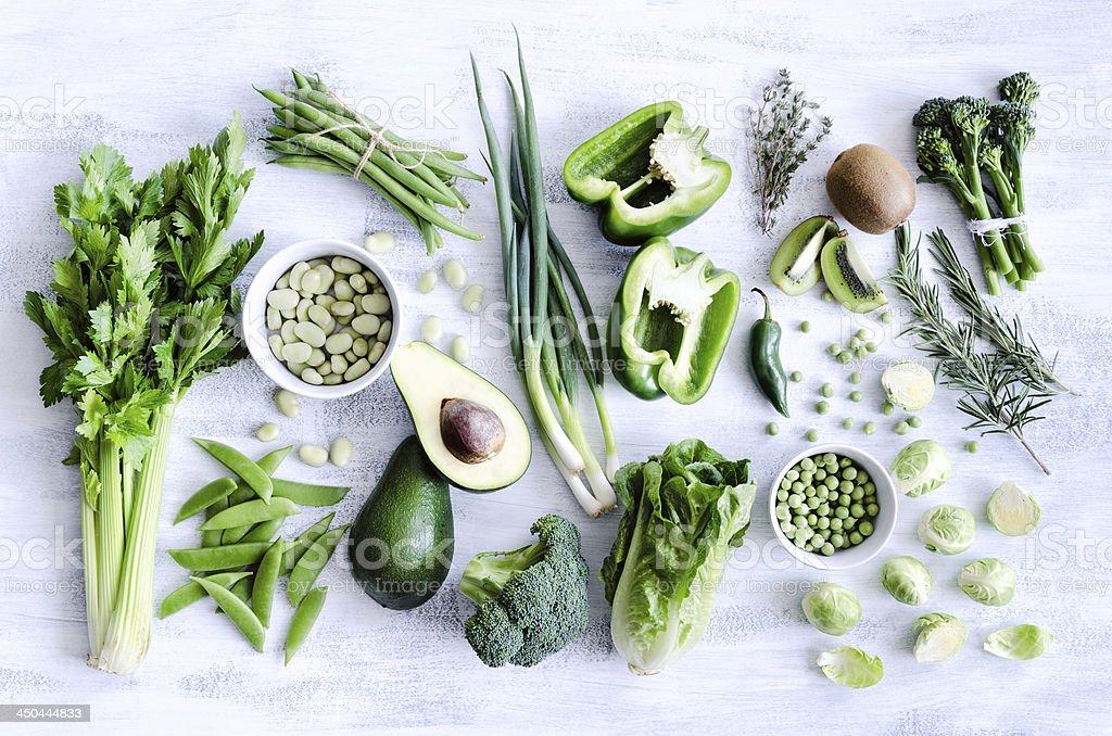 Verde saudável de legumes - foto de acervo