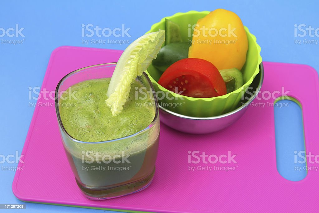 Healthy green veggie drink royalty-free stock photo