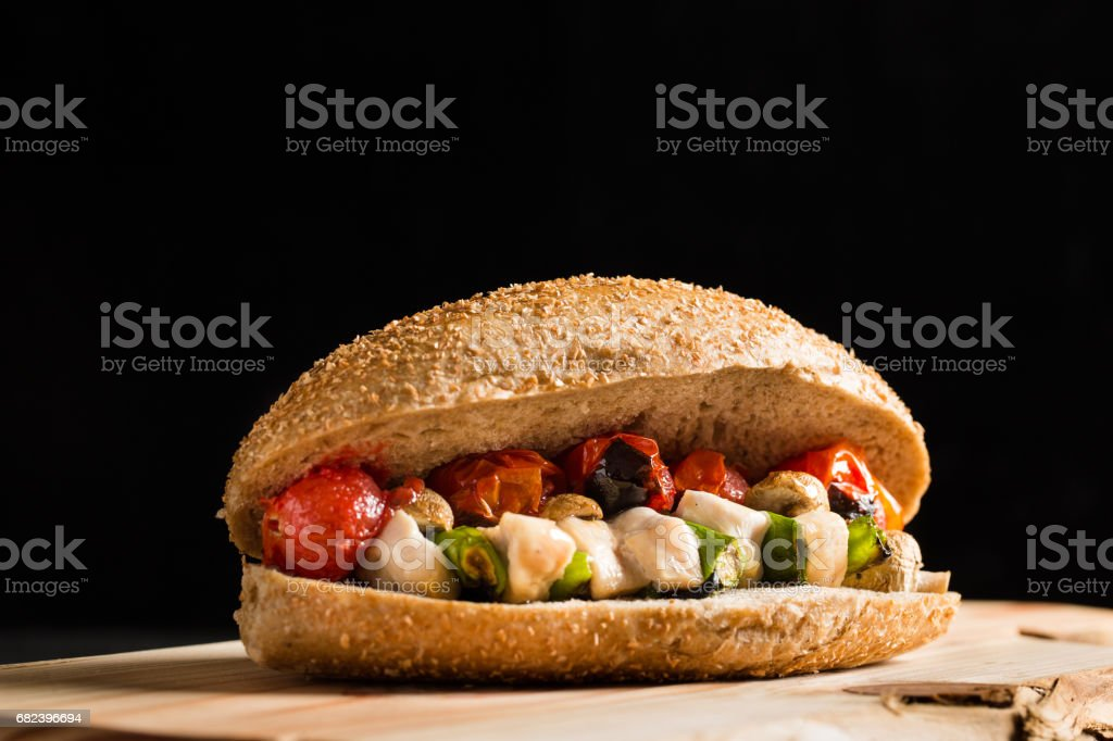 Healthy Grilled Chicken Sandwich royalty-free stock photo