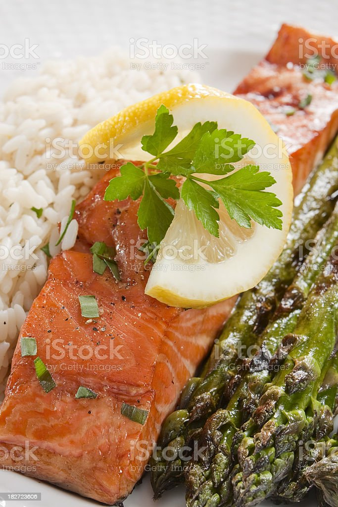 Healthy Grilled Salmon stock photo