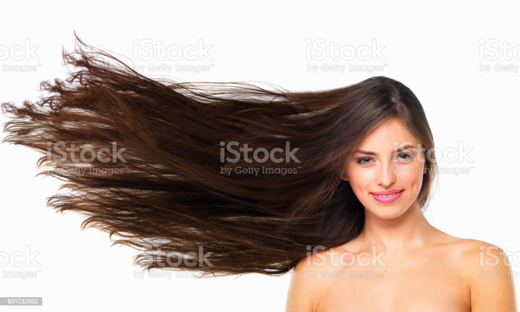 Healthy hair is happy hair stock photo