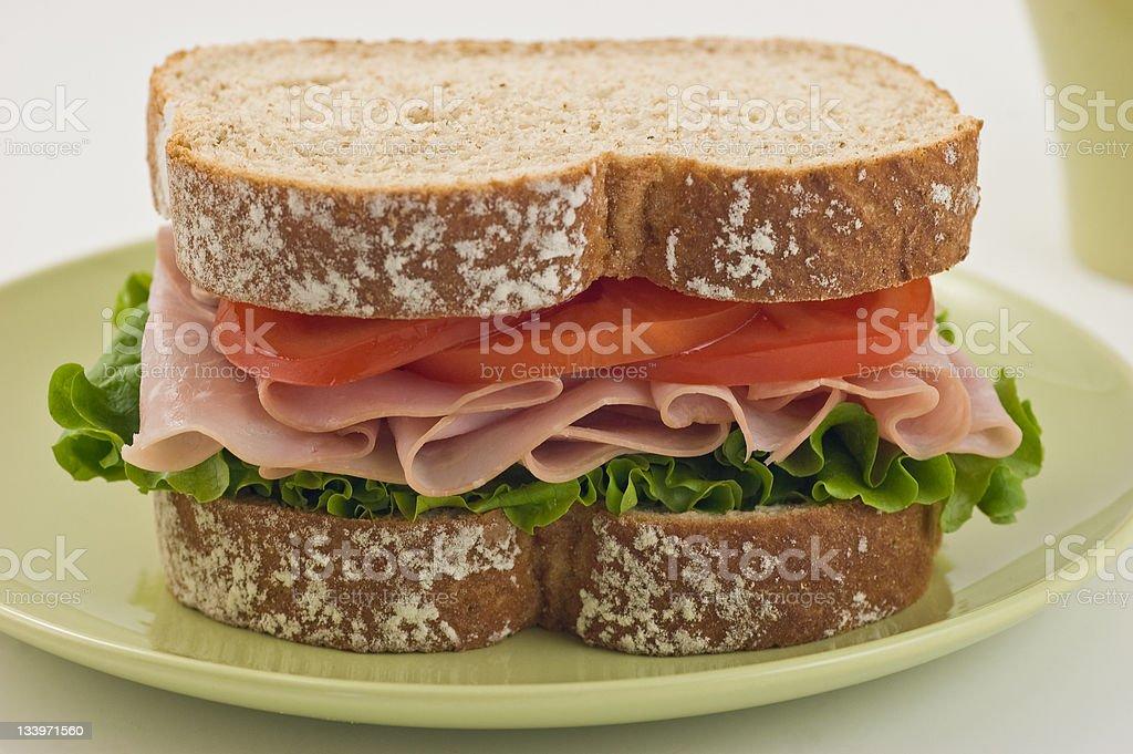 Healthy Ham sandwich royalty-free stock photo
