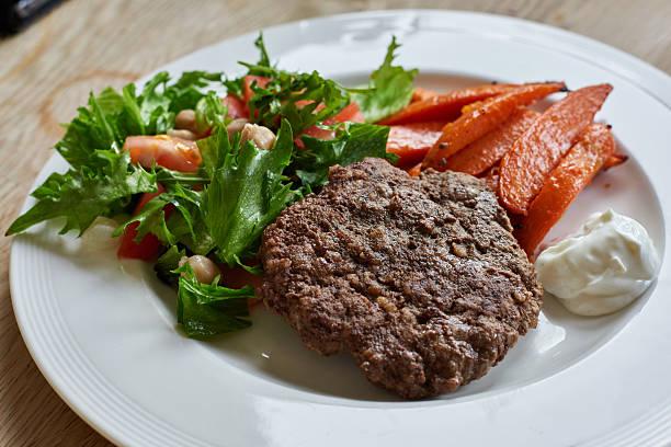 Gesunde Hamburger essen – Foto