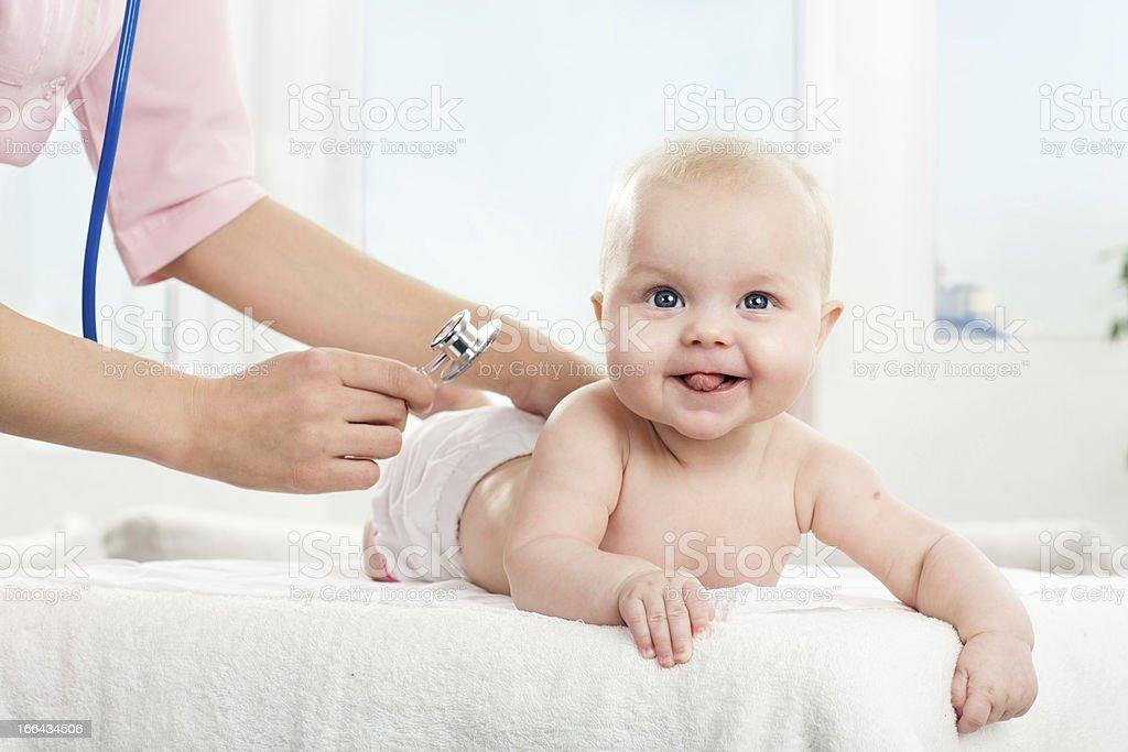 Healthy happy baby royalty-free stock photo