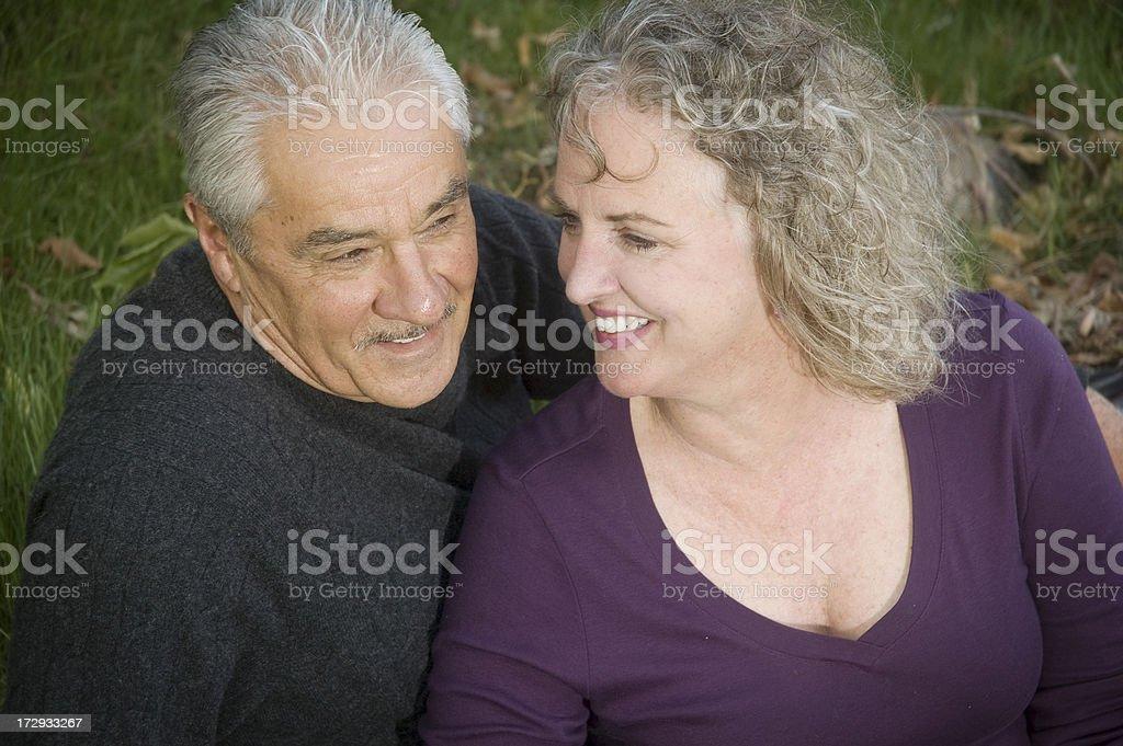 Healthy Happy Seniors royalty-free stock photo