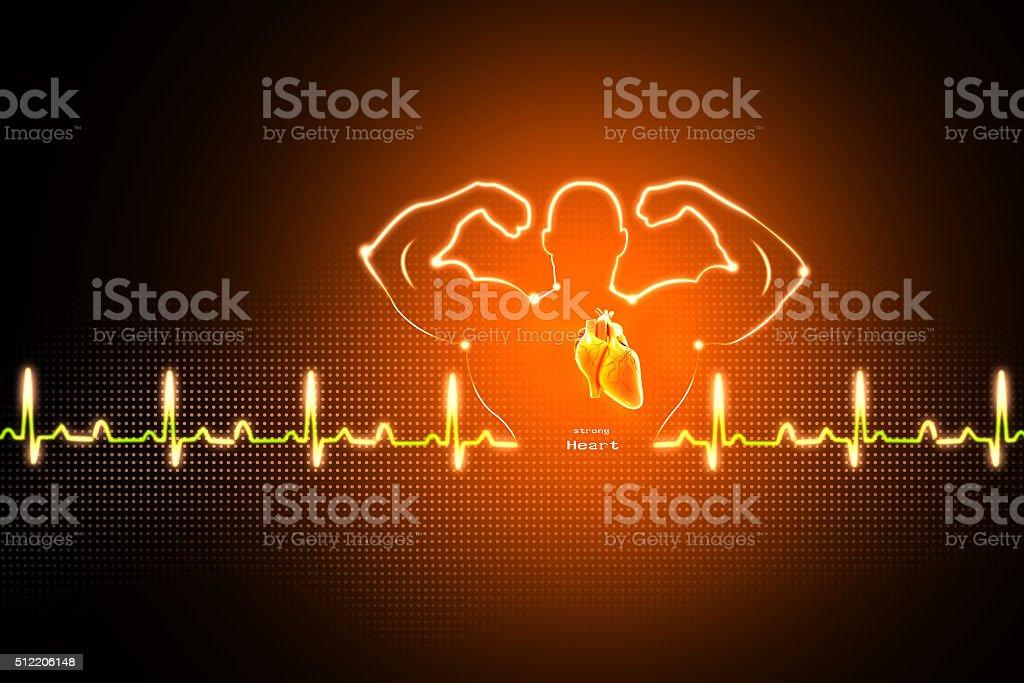 Healthy heart background stock photo