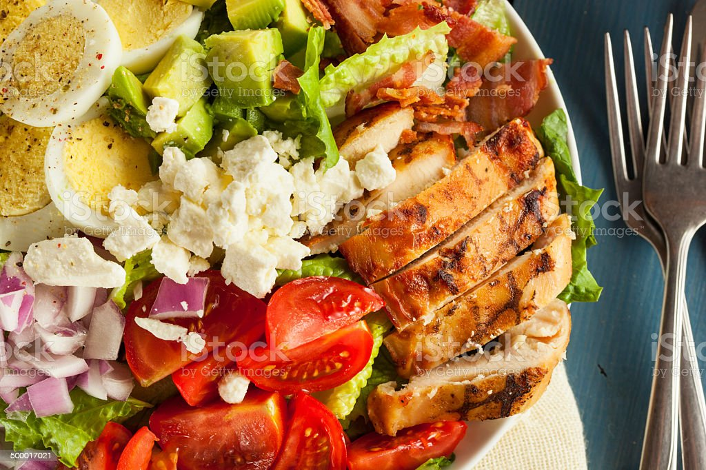 Healthy Hearty Cobb Salad stock photo